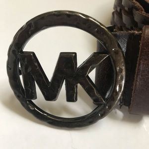 Michael Kors Brown Genuine Leather XL Belt